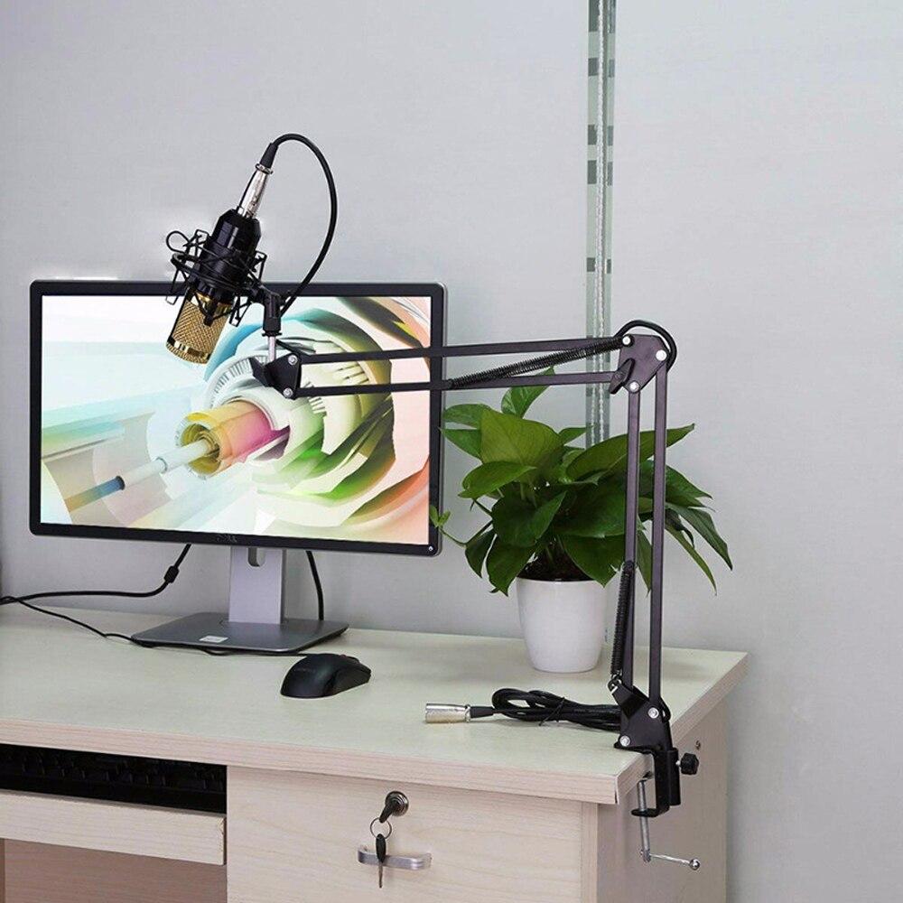 Condensateur 3.5mm filaire professionnel Studio Microphone enregistrement Vocal KTV karaoké Microphone micro support pour ordinateur - 2
