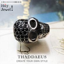 Grand crâne pavé perle 925 en argent Sterling bricolage accessoires de haute qualité grand trou cadeau Vintage Europe squelette pour Bracelet