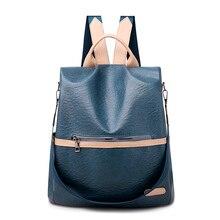Новый многофункциональный леди контрастность цвет рюкзак свободного покроя большой емкости двойная молния на открытом воздухе путешествие мешок
