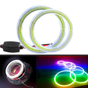 Halo-Ring Led-Headlight Angel-Eyes 120mm 90mm with Cover-Bulb Fog-Light-Lamps for Car
