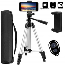 Camera Tripod Cam-Stand Smartphone-Holder Bluetooth Monopod Lightweight Desktop Adjustable