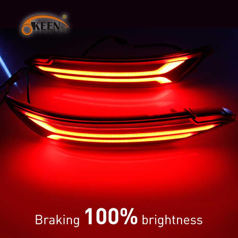 2 Stuks Voor Hyundai Tucson 2015 2016 2017 2018 2019 2020 Auto Led Reflector Lamp Mistachterlicht Achterbumper licht Remlicht