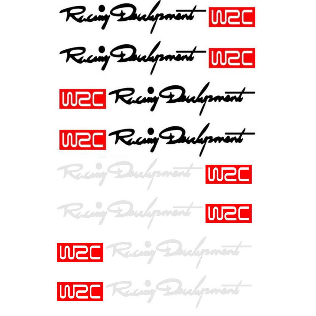 WRC רכב דלת ידית ויניל רכב גוף מדבקות עבור וולוו פורד פוקוס פולקסווגן פולקסווגן JETTA MK6 גולף 5 6 7 עבור סקודה פאביה