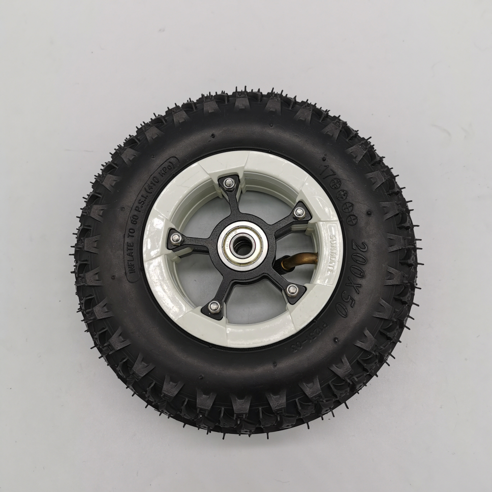 1 Pieces Of 8 Inch Pneumatic Tire Black Color Electric Mountainboard Skateboard Stroller Scooter Rubber Inflatable Wheel