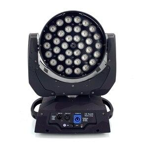 36x18 Вт зум светодиодный светильник с движущейся головкой 6in1RGBWA UV 6in1 высокое качество сценическая светодиодная световая установка диджея dmx ...
