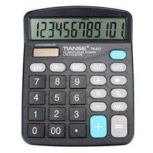 TIANSE многофункциональный электронный калькулятор нет необходимости батарея солнечной энергии 12 цифровой дисплей бизнес-учета повседневной жизни