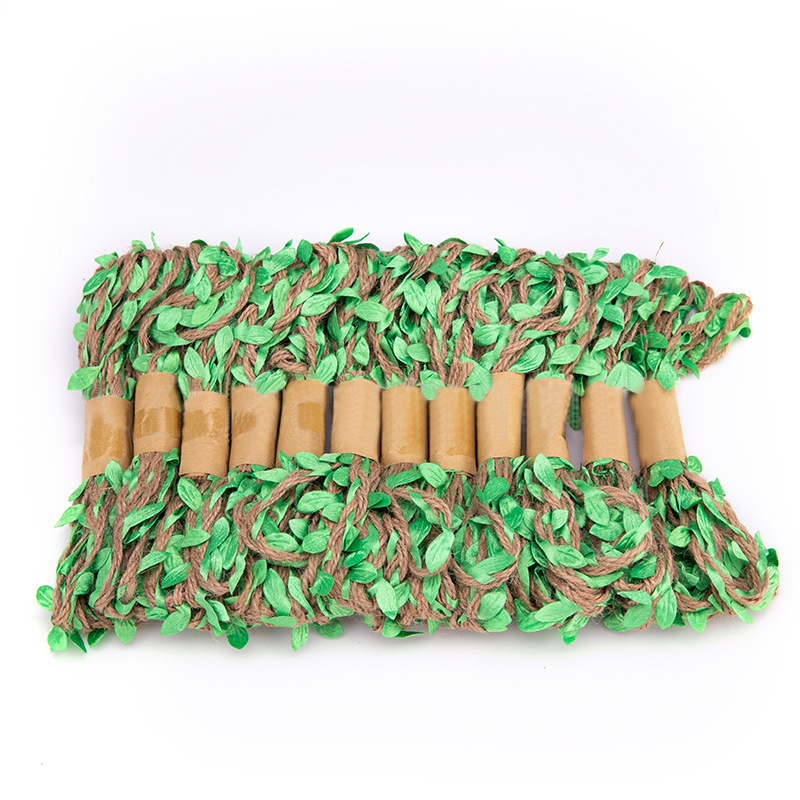 3 м/лот 5 мм Имитация листьев тканая пеньковая веревка сделай