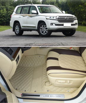 Real shot Car floor mats and car trunk mats for Toyota Land Cruiser in stock present