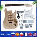 Полный комплект Aiersi из цельной древесины ST TL набор для электрической гитары незаконченная сборка вашего Tele Strato Diy Набор для гитары