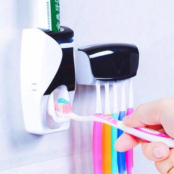 Yooap automatyczny zestaw do wyciskania pasty do zębów uchwyt do pasty do zębów projektant rzeczy do łazienki akcesoria łazienkowe dozownik pasty do zębów tanie i dobre opinie Z tworzywa sztucznego ZGT-001 Toothpaste dispenser Public