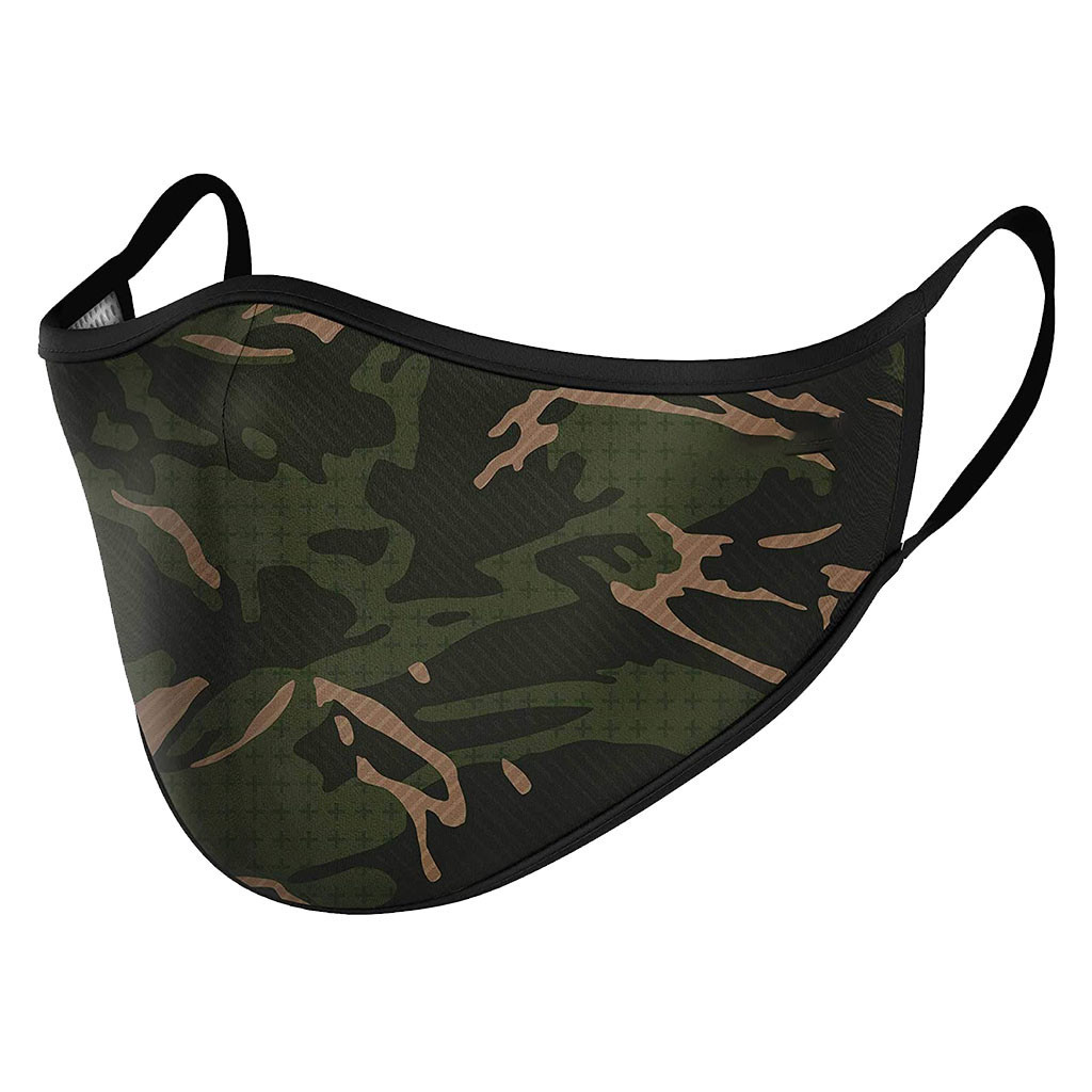 Adult Camouflage Print Masks Adjustable Safet Protect Washable Cotton Mask Anti-dust Fog Haze Mouth Cover Washable