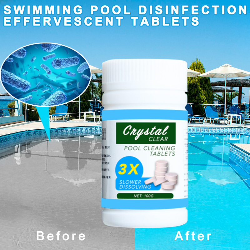 100 Pcs Pool Cleaning Tablet Safe Long Lasting For Swimming Pool BHD2