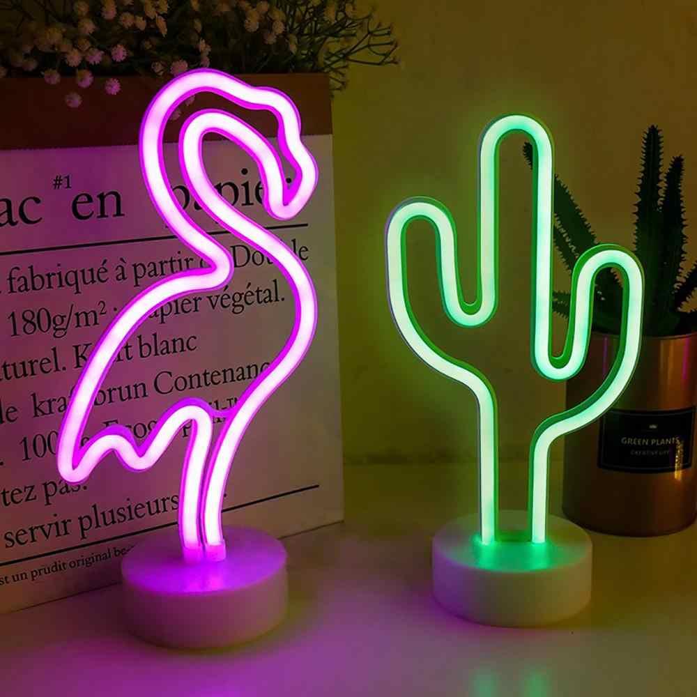 Regenbogen Led Neon Zeichen Licht USB 12V Flamingo Einhorn Hochzeit Bar Shop Fenster Room Home Decor Lampe Für Weihnachten geschenk Tisch Lampe