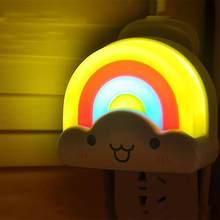 Mini luz da noite arco-íris criança nightlight para crianças festa decoração do quarto decoração decorações para casa decorações de festa