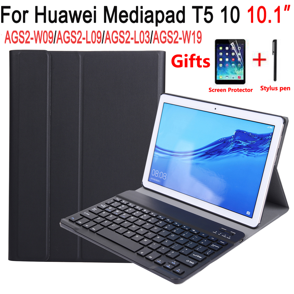 Bluetooth Keyboard Case For Huawei Mediapad T5 10 10.1 AGS2-L09 AGS2-W09 AGS2-L03 Case Keyboard For Huawei T5 10 10.1 Cover