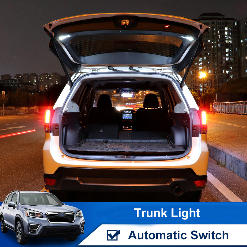 QHCP LED Car Trunk Lamp Tailgate Lights Wide Area Large Range Cargo Luggage Bright For Subaru Forester 2019 Interior Accessories