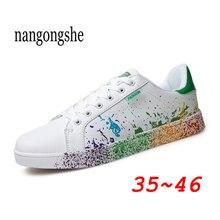 2020 Fashion Women Casual Shoes Graffiti Basket Femme Sneake