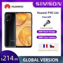 Huawei P40 Lite 6Gb 128Gb 6.4 Inch Fullview Display 2310*1080 Kirin810 Octa Core Emui 10 Snelle lading Global Versie