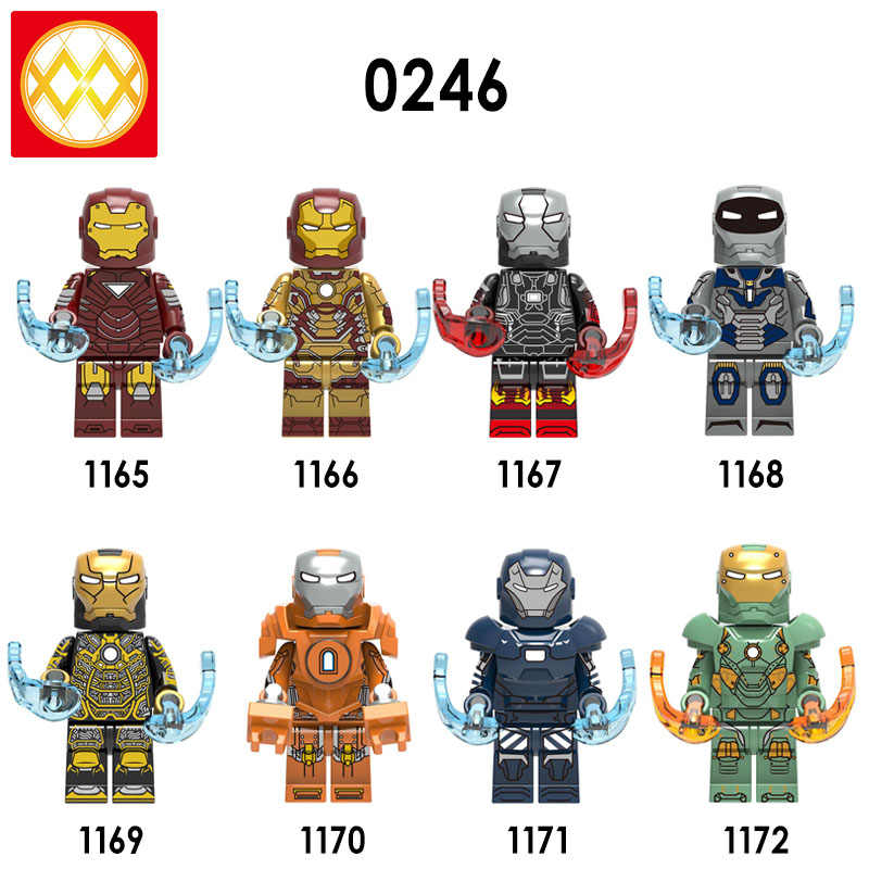 Single X0246 Free Shipping  Iron Man Series Marvel Super Heroes Bricks MK36- MK42 New Iron Man Collect Building Blocks Kids Toys