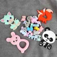 TYRY. HU Katze auto Silikon Perlen Perle Tier Lebensmittel Grade Pferd Baby Beißring BPA FREI Molaren Silikon Bead Spielzeug DIY Mordedor perlen