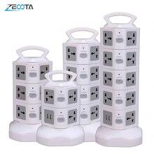 Tháp Điện Dải Dọc Chống Sét Bảo Vệ Nhiều Ổ Cắm Điện Cắm Ổ Cắm 2 Cổng USB Đa Năng Jack Cắm Ổ Cắm 3M Extention Dây