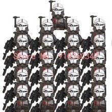21 pçs wm6095 wm6098 filme série figura clone força 99 wrecker crosshair hunter tecnologia figura de ação blocos de construção cabeça crianças brinquedo