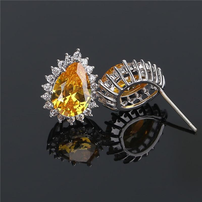 cz crystal diamond stud earrings