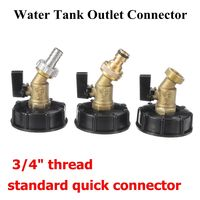 NEW S60x6 3/4IBC Ton Barrel Water Tank Connector Garden Tap Hose Faucet Fitting Tool Adapter Outlet Type Quick Connector