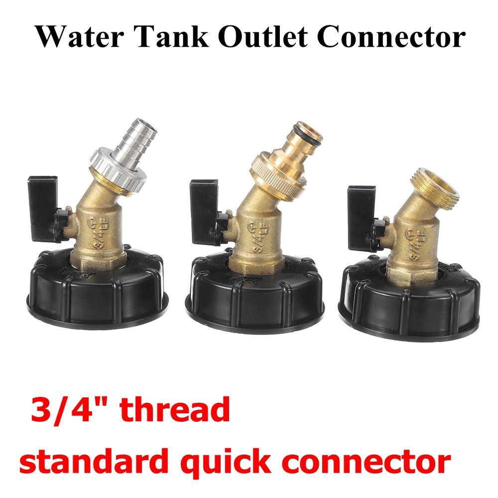 IBC S60X6 montaje salida del tanque de agua//Adaptador//Conector De Codo Tee Con Válvula Grifo