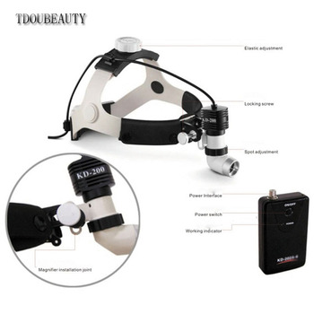 TDOUBEAUTY High power,High brightness,Aluminum cooling structure,5W,KD-205AY-1 Dental Surgery Surgical Headlight Free Shipping