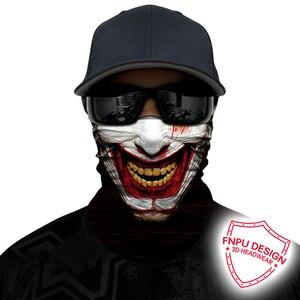 Bandana de calavera en 3D sin costuras para motocicleta máscara facial para motorista, Joker, Hulk, Bandana para cuello, para exteriores, Cara de ciclista, protector para bufandas de tubo para bicicleta