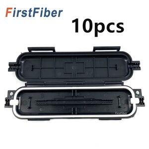 Image 1 - New Fiber protective box FTTH Drop cable waterproof protection box tube 10pcs  Heat shrinkable tube