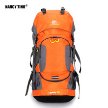 NANCY TINO 60L Hiking Backpack Men's Outdoor Climbing Bag Night Reflection Design Waterproof Backpack Unisex Mountain Package