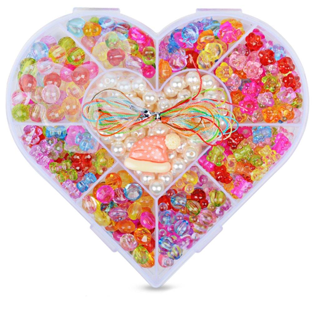 9 Girds Kids Girls DIY Toys String Beads Brinquedo Necklace Handmade Bracelet Building Kit Make Up Intelligence Birthday Gift