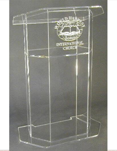 Acrylic Lectern/Lucite Chruch Podium/Transparent Pmma Pulpit Clear Lectern Clear Church Podium Plexiglass