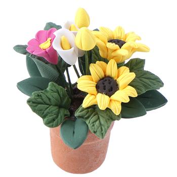 1 12 domek dla lalek miniaturowe kwiaty wróżka ozdoba ogrodowa Mini roślina doniczkowa kwiaty doniczka domek dla lalek Bonsai Model zabawka dla dzieci tanie i dobre opinie KittenBaby 2-4 lat 8-11 lat Dorośli 5-7 lat 12-15 lat Żywica