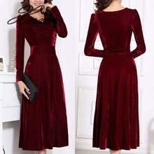 Xnxee размера плюс для женщин зимнее платье с длинными рукавами