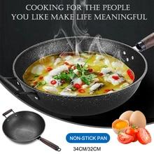 Nonstick Frying Pan  Metal Fry Pan with Wooden Handle Kitchen Utensil Cookware LAD-sale