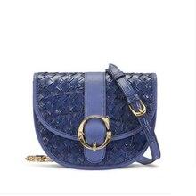 gete The new  Crocodile leather lady crossbody bag fashionable chain saddle shoulder large capacity