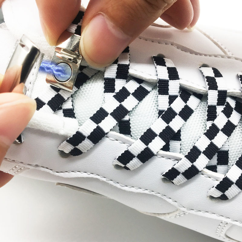 New Magnetic ShoeLaces Locking ShoeLace Special Creative Mosaic No Tie Shoes Lace Kids Adult Unisex Sneakers Laces Strings