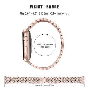 Женский ремешок со стразами для apple watch 38 мм 42 мм iwatch ремешок 44 мм 42 мм из нержавеющей стали для ремешок на apple watch 6 ремешок serice 5 4 3 2|Ремешки для часов|   | АлиЭкспресс