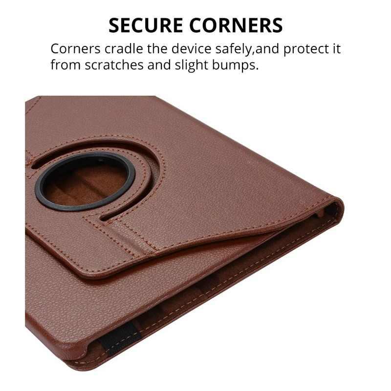 360 obracanie Flip Folio skóra Smart Case dla Samsung Galaxy Tab S 10.5 cal SM-T800/T801/T805 Tablet pokrowiec ochronny