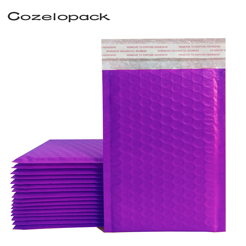 10PCS #0 6x10inch Purple Poly Bubble Mailer Padded Envelopes 175x230mm Self Seal Mailing Bag Bubble Envelope Packaging Envelopes