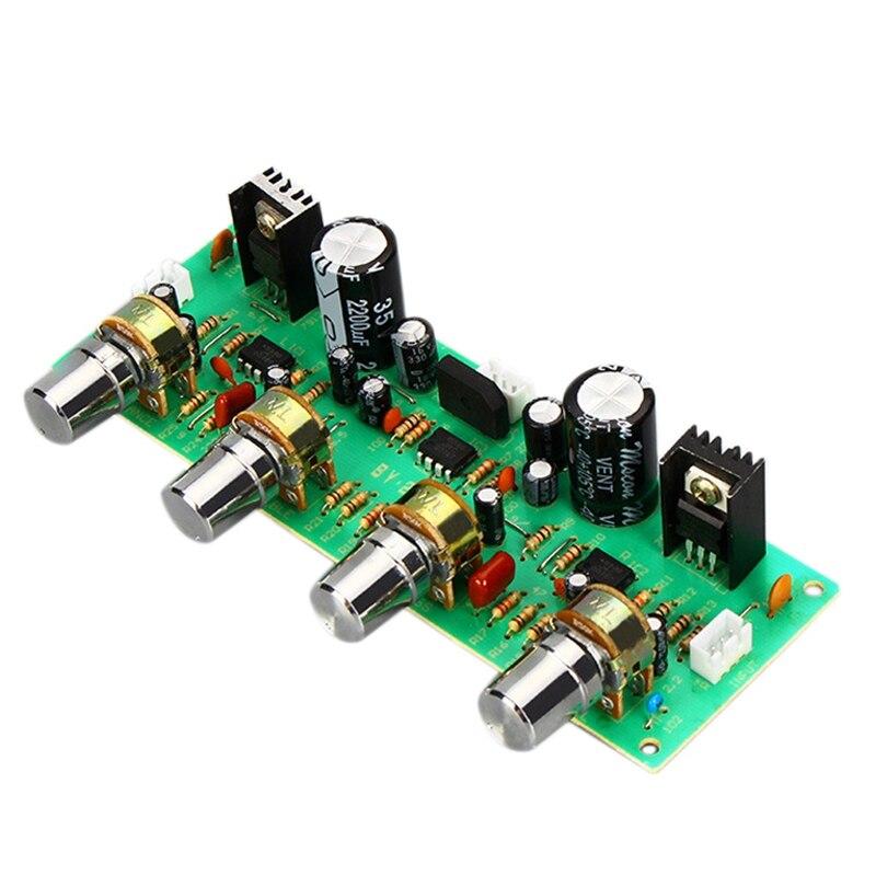 12V NE4558 HIFI Preamp Tone Board Bass Treble Volume Control Pre-Amplifier Board