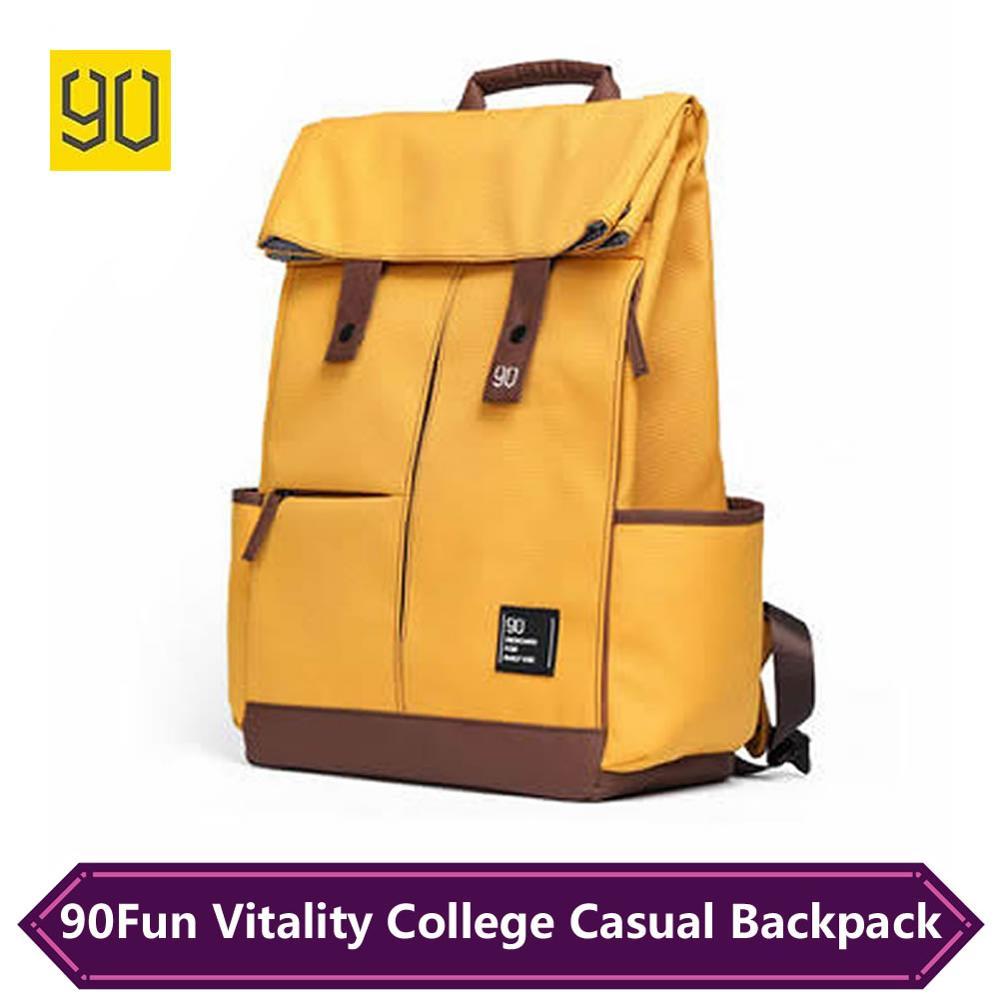Xiaomi Urevo Backpack College Causal Bag Waterproof Knapsack Laptop Rucksack