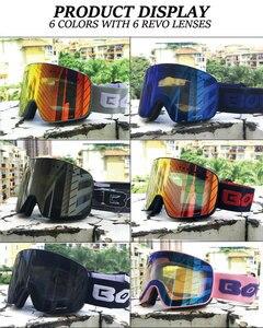 Image 2 - Manyetik çift katmanlar Lens kayak gözlüğü maskeler Anti sis UV400 Snowboard gözlüğü kayak gözlüğü gözlük erkekler için kadınlar kılıf ile lens