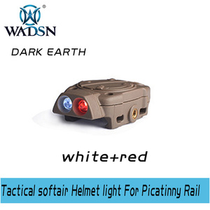 Image 5 - WADSN Princeton Tactical softair Helmet light For Picatinny Rail With Remote Switch Light Tail White Red IR Lights WNE05016