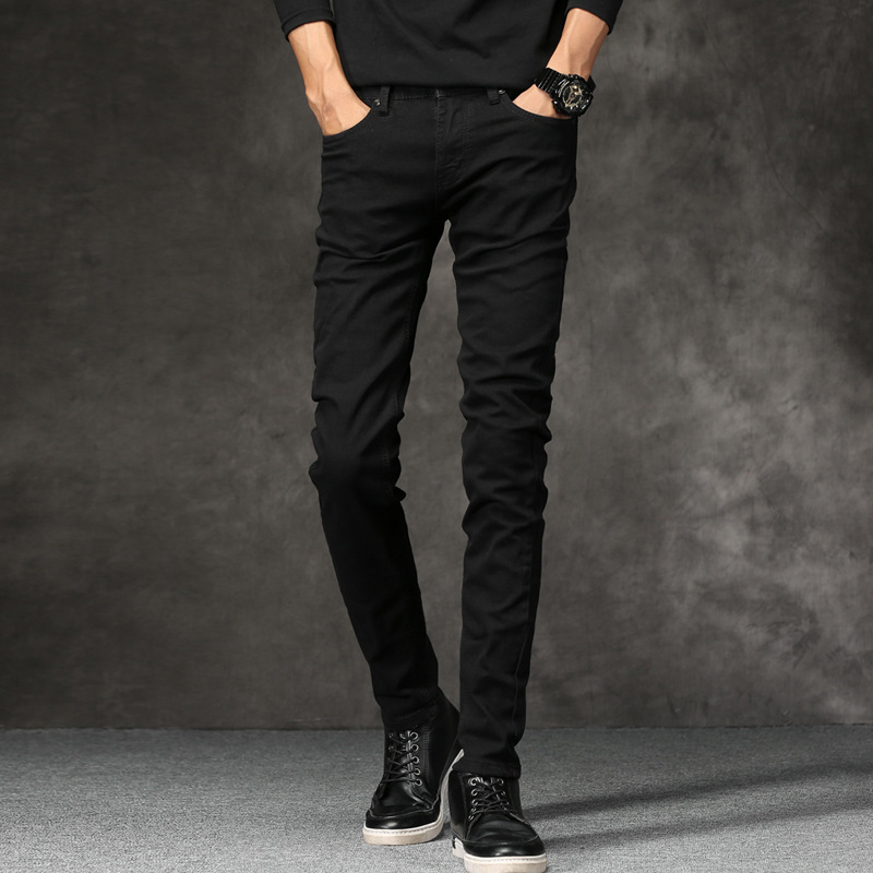 MEN'S Jeans 2019 New Style Solid Color Men Straight-Cut Casual Pants Large Size Loose Casual MEN'S Denim Trousers