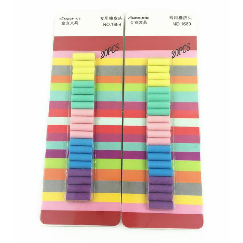 20 Pcs/pack Colorful Electric Eraser Refill Replacement Refill School Office Home Automatic Eraser Refill Stationery Gifts
