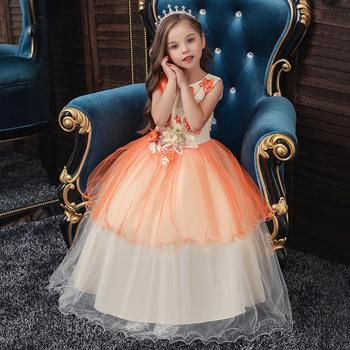 Flower Girl Dresses Tulle 2019 Appliqued Pageant Dresses For Girls First Communion Dresses Kids Prom Dresses beautiful flower girl dresses lace 2019 appliqued ball gown pageant dresses for girls first communion dresses kids prom dresses